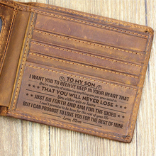 Customized Genuine Leather Wallet Mens Brown Vintage Cow Lea
