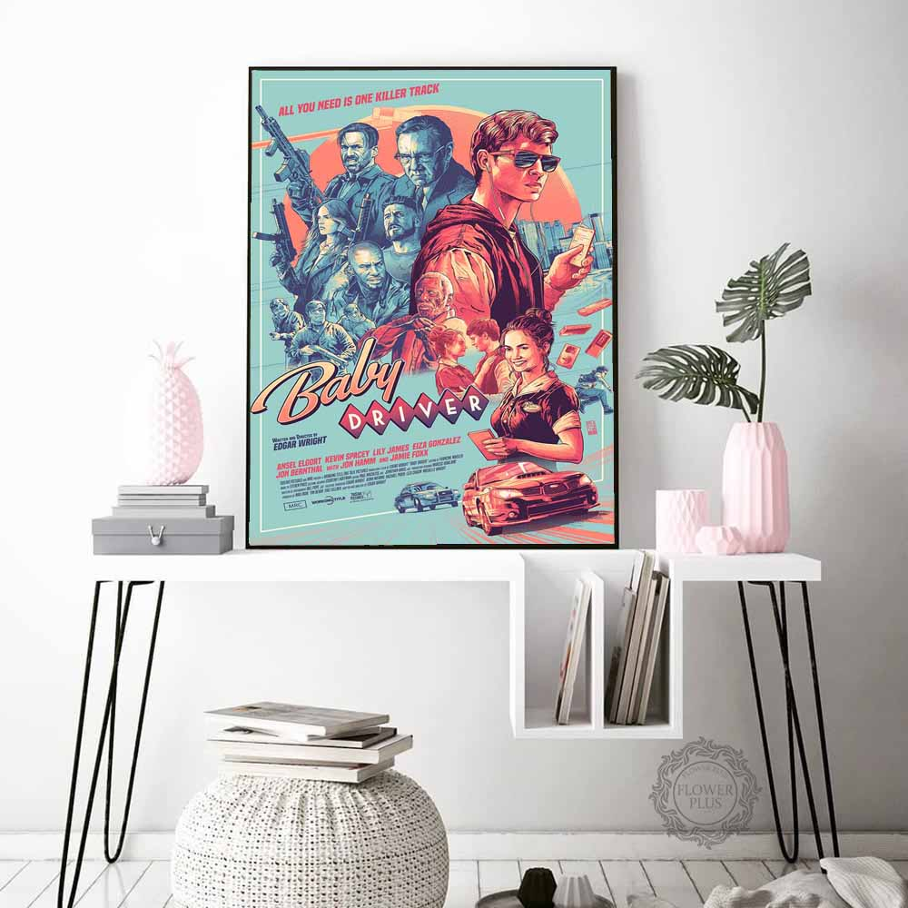 Baby Driver Classic Movie Posters and Prints Wall Art Painting Decoration Pictures for Living Room For Home Decor