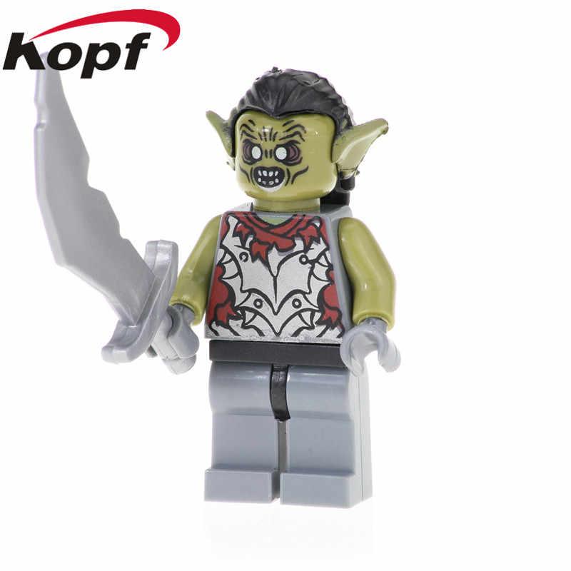 Enkele Verkoop De Lord of The Rings Cijfers Super Heroes Orcs Uruk-hal Frodo Baggins Bouwstenen Beste Kinderen gift Speelgoed PG537