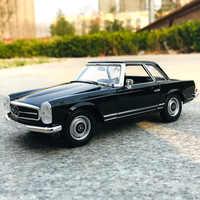 WELLY-Mercedes Benz 230SL 1:24, coche de simulación de aleación de metal, modelo de adornos para manualidades, colección de juguetes, herramientas de regalo