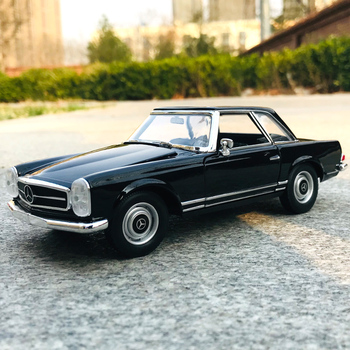 цена на WELLY 1:24 Mercedes Benz Mercedes-Benz 230SL simulation alloy car model crafts decoration collection toy tools gift
