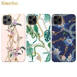 Image 2 - Оригинальный жесткий чехол Kingxbar для телефона с цепочкой и кристаллами Элементы для Apple iPhone 11/ Pro/ Max роскошный чехол накладка с полной защитой