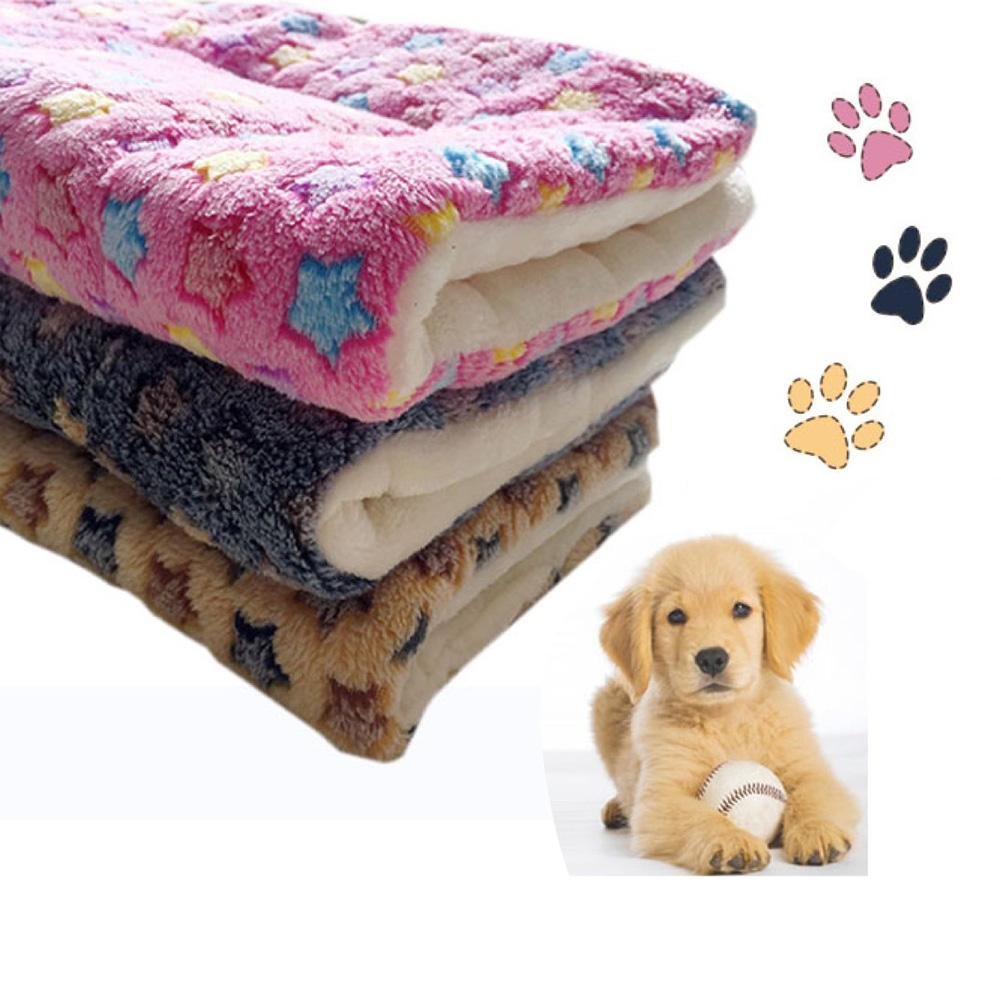 Padded Soft Star Print Home Pet Cats Dog Puppy Blanket Pad Mat Cushion Carpet Pet Dog Supplies