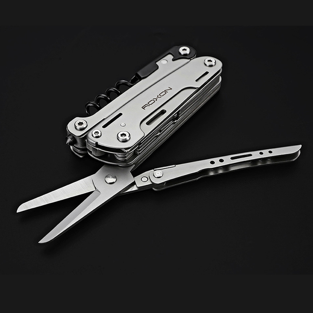 Roxon s801s updated multitools folding plier edc scissors camping fishing multi tools plier screwdriver bits knife survival