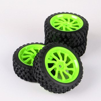 4pcs/set Rally Racing Ruber Tires Wheel Rims For HSP HPI 1:10 RC Car 12mm Hex Tyre Rim Car Accessories 6mm 12mm hex car parts offset rc drift tires tyre wheel rims 4pcs set dhg pp0370 fit for hpi hsp 1 10 drift racing car truck