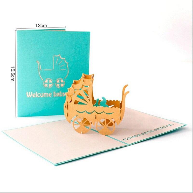 Handmade New Born Baby Welcome Card