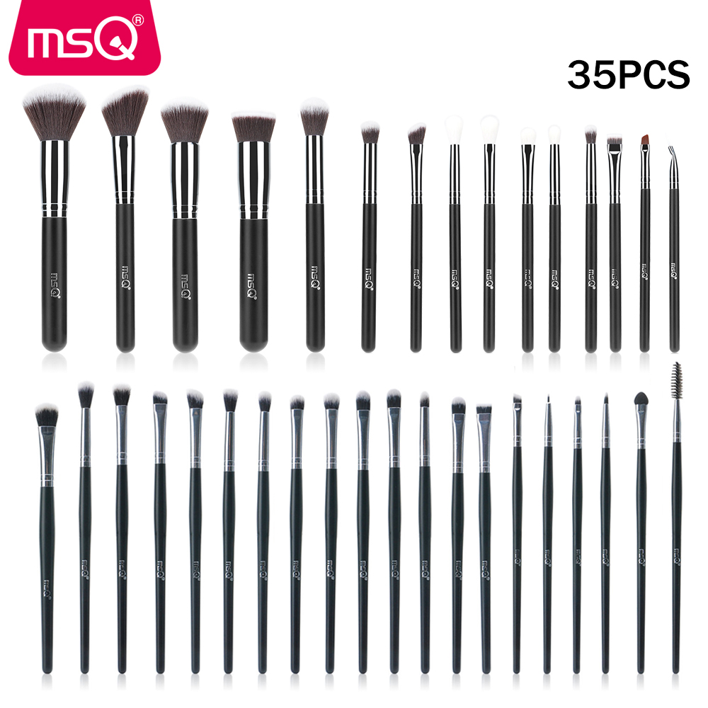 MSQ Make-Up Pinsel <font><b>Set</b></font> Foundation Eyeliner Lidschatten Sculpting Pinsel Blending 35PCS <font><b>32PCS</b></font> 27PCS Make-Up Pinsel Synthetischen haar image