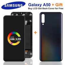 6.4''Super AMOLED For Samsung Galaxy A50 SM-A505FN/DS A505 LCD Display Touch Screen Digitizer With Frame For Samsung A50 lcd