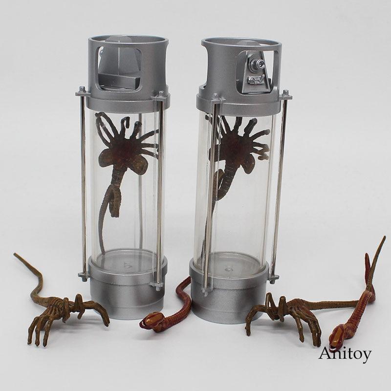 Neu Alien Creature Pack Stasis Kammern verfügen über LED Facehugger Chestburster