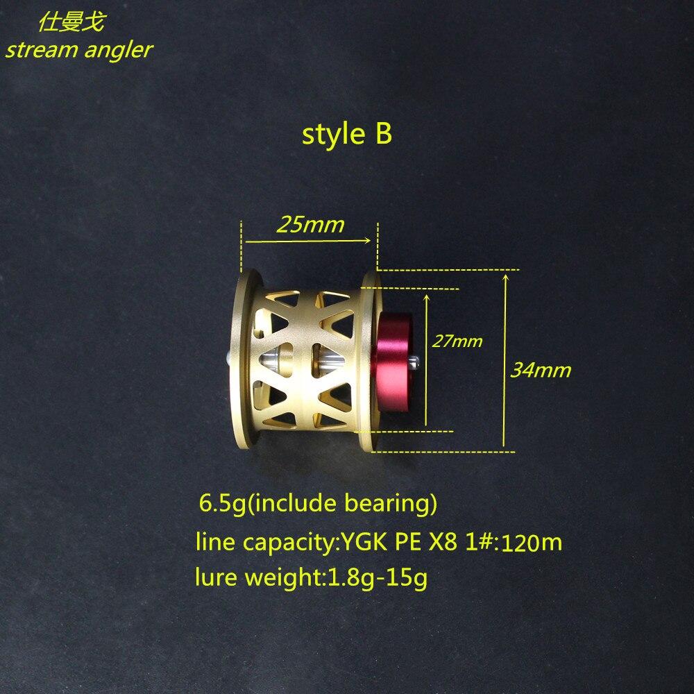 diy spool for steez zillion1016 T3 ryoga lighter Aviation aluminum shallow and universal spool baitcasting reel - 5