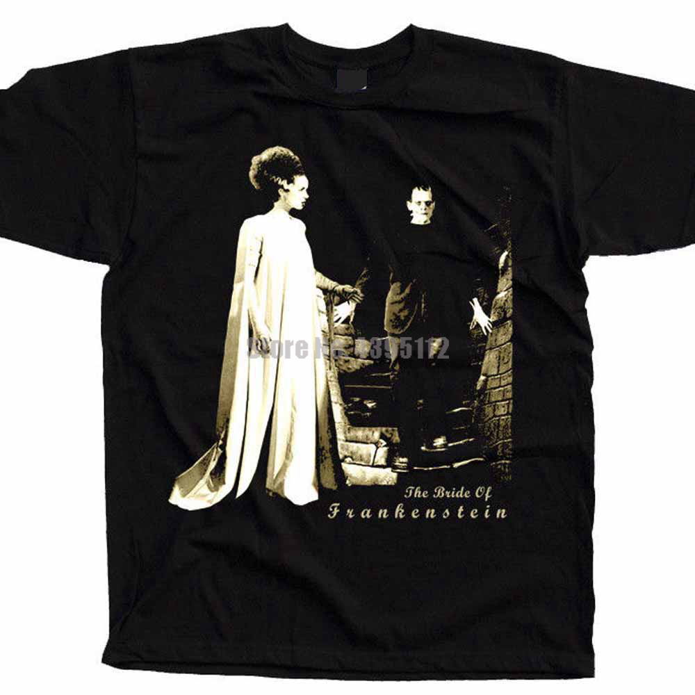 The Bride Of Frankenstein Movie Men'S Weird T-Shirt Clothing Tshirts Cool T-Shirts Custom Shirt Big Sizes Wnhpvt image