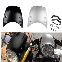 Aluminium Windshield Windscreen Headlight Fairing Wind Deflector For BMW R Nine T 2014 2015 2016 Motorcycle Accessories