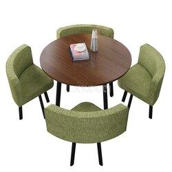 90 см 4 человек журнальный столик со стулом сочетание переговоров стол для приема набор питьевой магазин Досуг Круглый/квадратный чайный сто...