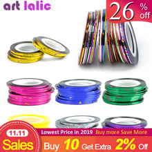 10pcs Striping Tape Line Nail Art Sticker Decoration DIY Decals UV Gel Acrylic Nail Ti[s