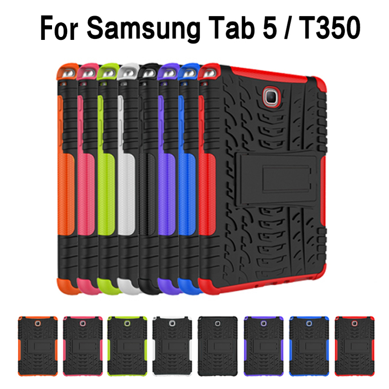 For Samsung Galaxy Tab A 8.0 SM T350 T355 P350 P355 8'' case TPU+PC Plastic Hybrid Duty Armor Case Hard Shock Proof Back Cover