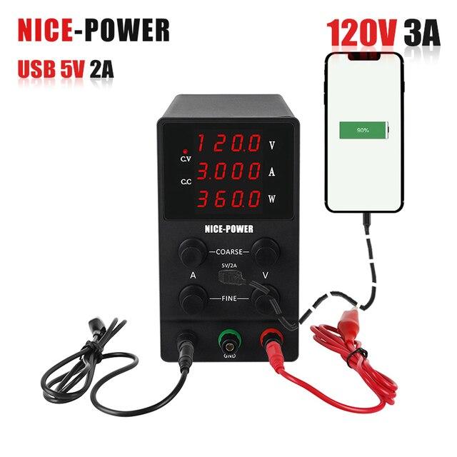 60V 120V Voltage Regulator Adjustable Laboratory Power Supply Regulator Fine-Tuning Switch Source LCD Eye Protection Screen