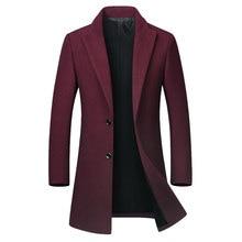 Men's Business Casual Slim Fit Blazer Homme Autumn Winter Wool Blends Formal Jac