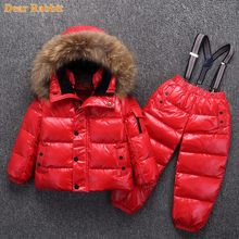 Children Clothing Bib-Pants Jackets Ski-Jumpsuit Winter Waterproof-30degrees Snow-Wear