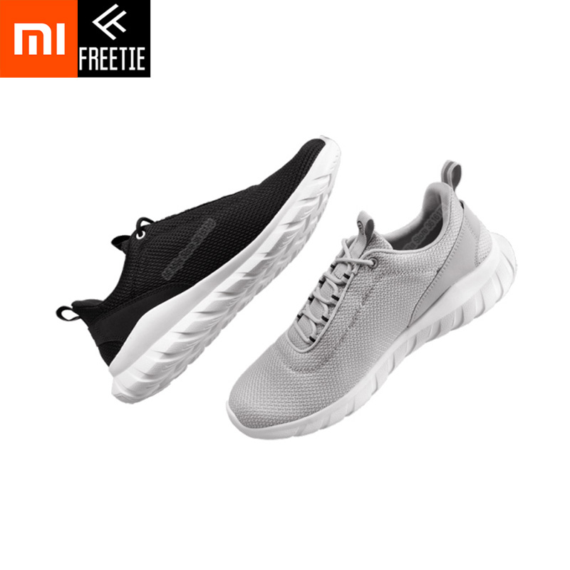 Xiaomi Mijia Youpin FREETIE 39 44 Plus Size Men's Sports Shoes Light Breathable Knitting City Running Sneaker for Outdoor Sports
