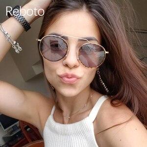 Vintage okrągłe damskie damskie okulary przeciwsłoneczne 2020 moda marka wysokiej jakości okulary przeciwsłoneczne kobieta mężczyźni metalowe czarne okulary óculos feminino