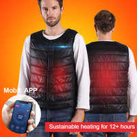 Smart Vest Control For Heating Vest USB Charging Heating Vest Winter Warm Supplies Washable For Cycling Mountain Climbing Outing