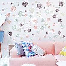 Calcomanía de pared Floral acogedora pinturas autopegadas decoración de dormitorio romántico sofá de sala de estar Fondo papel tapiz decoración de pared Vintage