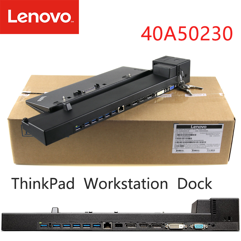 Original For ThinkPad P70 P71 P50 P51 40A5 Workstation Dock  Laptop Docking Station  40A50230US 40A50230EU 40A50230UK 40A50230AU