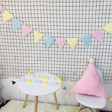 AVEBIEN Non-woven fabric Colored Flag Birthday Party Pennant Decoration Craft DIY Event Supplies