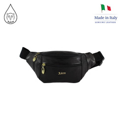 Juice brand, genuine leather bag Made in Italy, casual shoulder bag for men 043.448