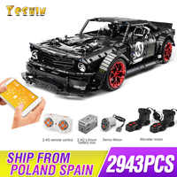 2019 New 1965 Ford Mustang Hoonicorn Racing Car Technic MOC-22970 FIT 20102 building block bricks kid toys Christmas gifts
