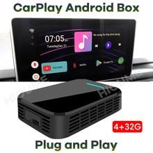 Novo 4 + 32g carplay caixa de carro universal android 9.0 sistema gps para mercedes benz porsche audi peugeot skoda cadillac buick volvo