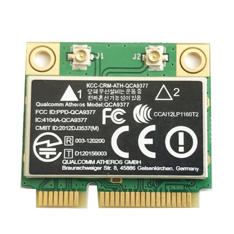 For Atheros QCA9377 Dual Band AC WIFI Module Mini PCI-E 2.4G/5G Bluetooth 4.2 Wireless Card Adapter 433Mbps