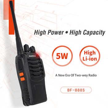 2pcs/lot Baofeng bf888s Talkie Walkie 6KM Portable Ham Radio Communitor BF 888S hf Transceiver UHF 400-470MHz Intercom BF-888S