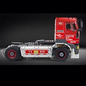 Image 3 - Molde rei 13152 técnica carro brinquedos compatíveis com MOC 27036 app motorizado caminhão de corrida mkii blocos de construção crianças presentes natal
