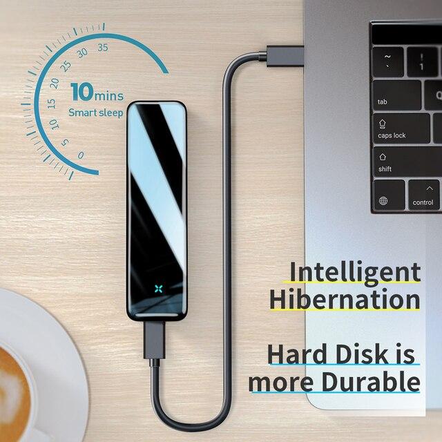 Funda SSD Baseus M2 M.2 a USB tipo C 3,0, carcasa de disco duro SSD para NGFF SATA M/B KEY SSD, caja de disco SSD Caddy
