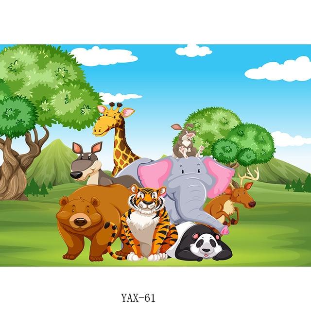 Фото shengyongbao дети день рождения фоны мультфильм животные зоопарк цена