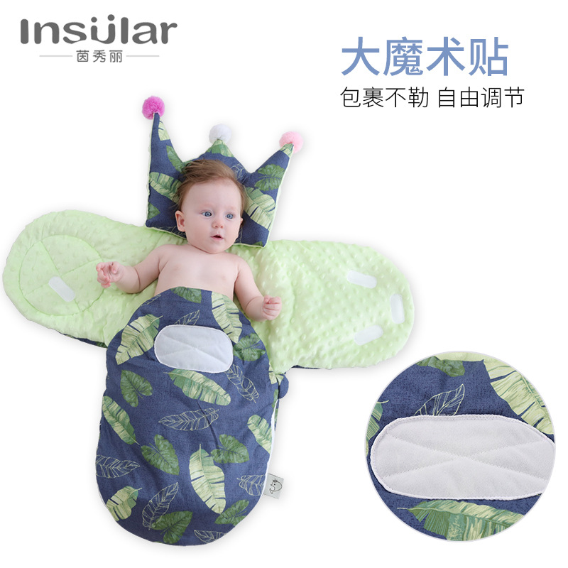 Insular 2019 Autumn And Winter Infant Anti-Startle BABY'S BLANKET Newborns Cotton Swaddling Clothes Jin Bao Baby Sleeping Bag Cr