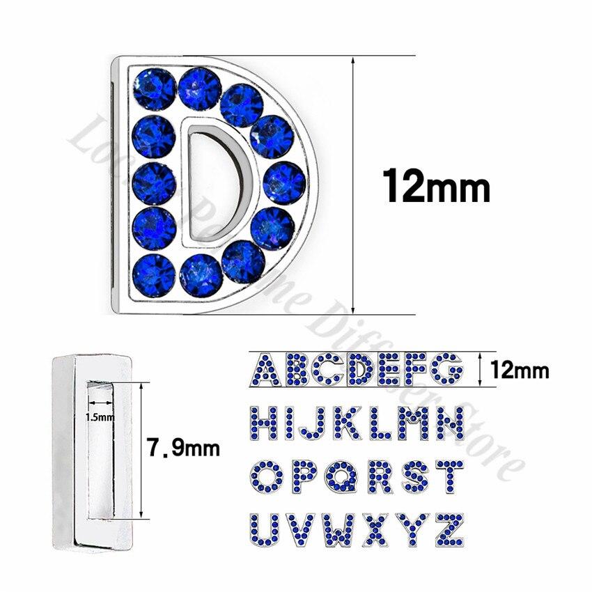 8mm-铬色宝蓝色钻-字母穿戴-尺寸整体图