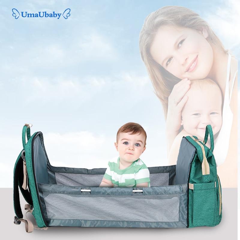 Umaubaby Pre-design Baby Diaper Bag Waterproof Maternity Bag For Stroller Nappy Bag Large Capacity Multifunction Mummy Bags New