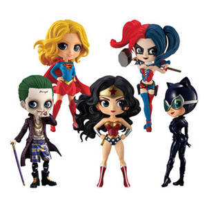 Kids Toys Q posket Wonder Woman Harley Quinn Joker Superhero PVC Action Figure Anime Figurines Collectible Dolls