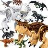 Jurassic Dinosaur Building Block Brick Mini Figure Miniature Big Dino World T-Rex Spinosaurus Indoraptor Animal Park Toy for Boy