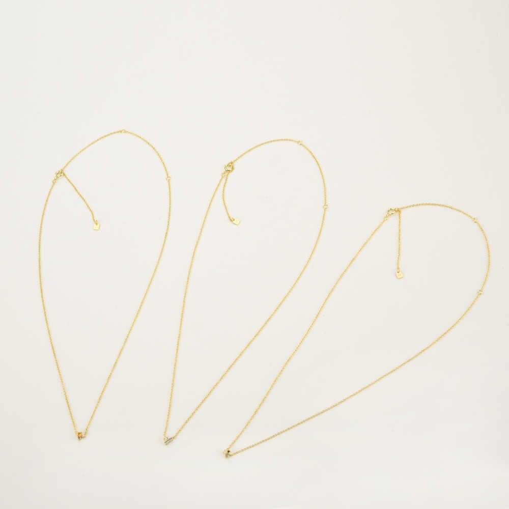 ANDYWEN 925 Sterling Silver Arcobaleno Collezione Zircon DELLA CZ di Fascino Del Pendente Neclace Sottile Oro A Lunga Catena Dei Monili Per Il 2020 La Moda