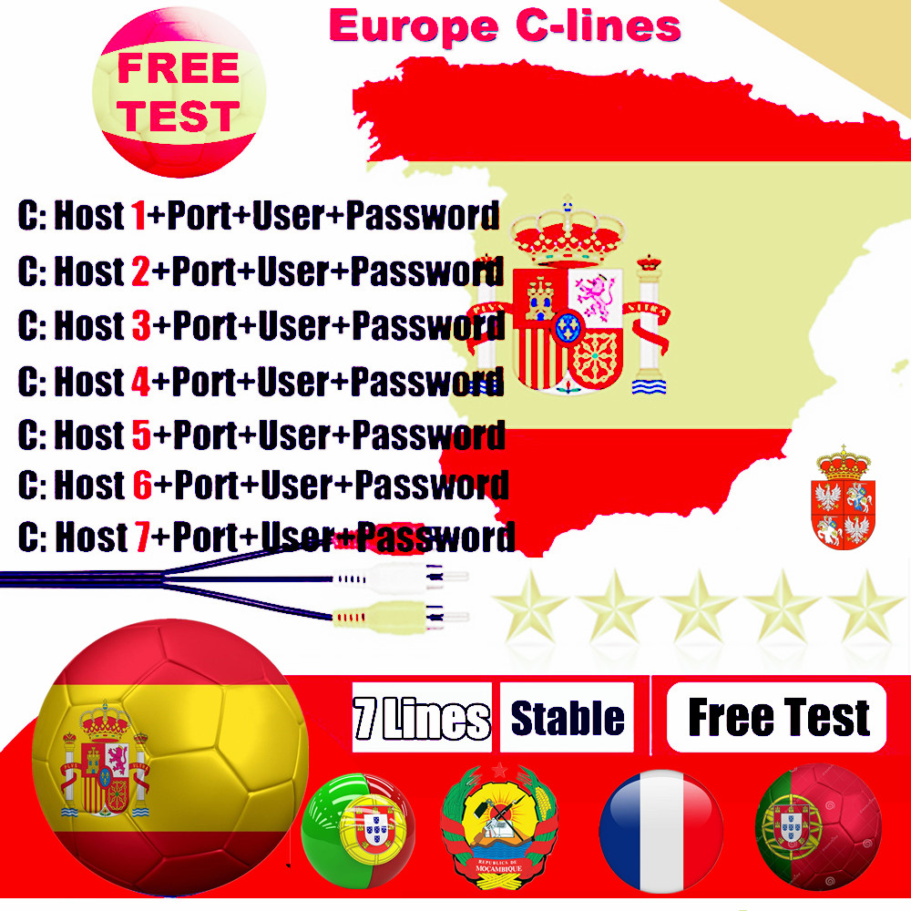 Europe 7 Lines Cccam Europe Full HD 2 Year Cccams for Europe Use for Satellite TV Receiver DVB-S2 HD image