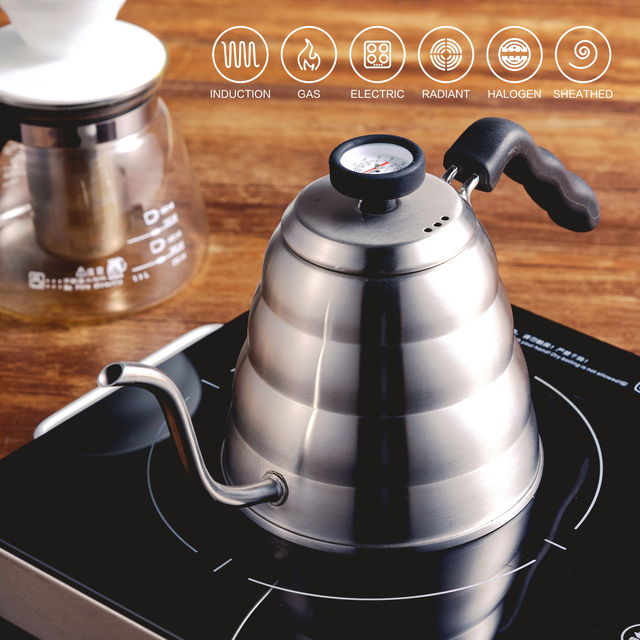 Stainless Steel Pour-Over Kettle With Thermometer 5