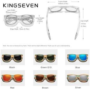 Image 5 - KINGSEVEN 2020 Retro Bamboo Sunglasses Men Women Polarized Mirror UV400 Sun Glasses Full Frame Wood Shades Goggles Handmade
