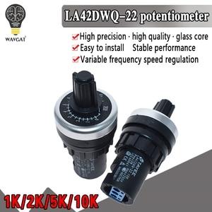 LA42DWQ-22 1K 2K 5K 10K 22mm Diameter Pots Rotary Potentiometer Converter Governor Inverter Resistance Switch