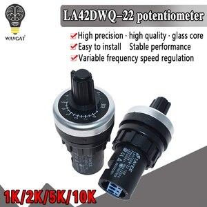 LA42DWQ-22 1k 2k 5k 10k 22mm diâmetro potenciômetro rotativo conversor regulador inversor interruptor de resistência