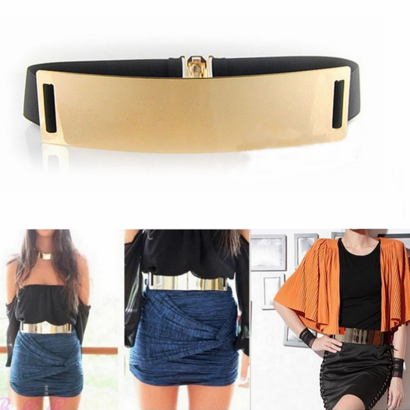 Hot Designer   Belts   for Woman Gold Silver Brand   Belt   Classy Elastic ceinture femme 5 color   belt   ladies Apparel Accessory