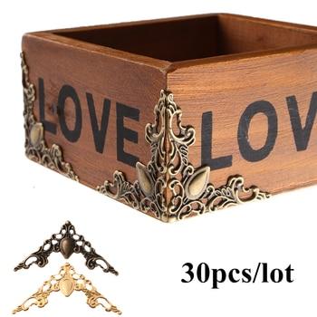30 Pcs Metal Corner Brackets Gold Bronze Color 40mm Corner Brackets for Photo Frame Furniture Protector Decorative