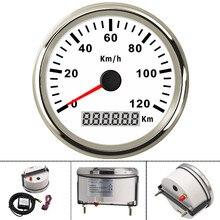 85mm 120KMH GPS Speedometer odometer waterproof IP67 Gauge Stainless 316L Bezel 12V 24V fit for marine boat car with Backlight цена